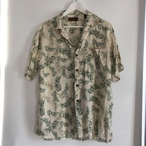 Tasso Elba Silk Floral Printed Shirt - Medium